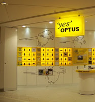 Optus at Melbourne airport