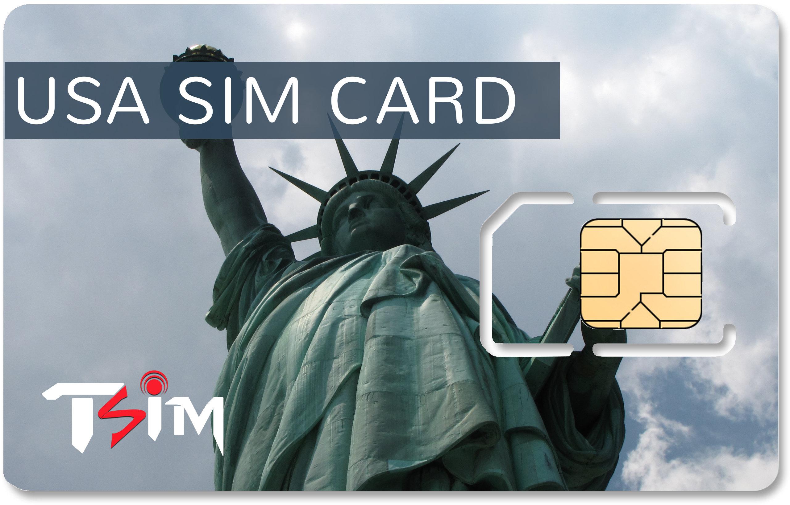 Unlimited USA SIM Card | TSIM's International Roaming SIM Cards